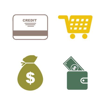 debt collection: credit card design Illustration