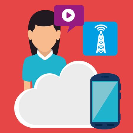 Social media and digital marketing graphic design, vector illustration Illustration