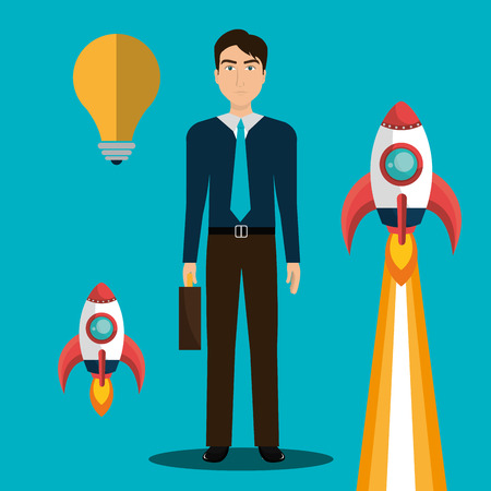 founding: Business strat-up company graphic design, vector illustration