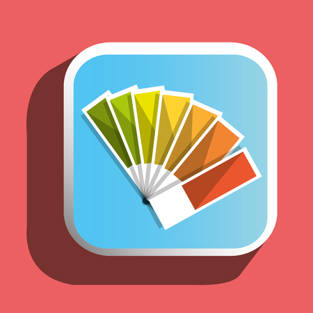 pantone: Colorful pantone icon graphic designer