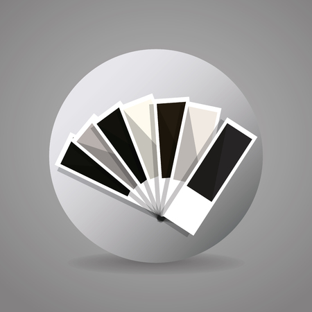 pantone: black and gray pantone icon graphic designer, vector illustration eps10 Illustration