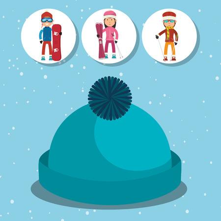 winter fashion: Winter fashion wear and accesories graphic design, vector illustration