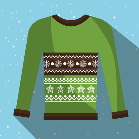 accesories: Winter fashion wear and accesories graphic design, vector illustration