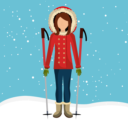 wear: Winter fashion wear and accesories graphic design, vector illustration
