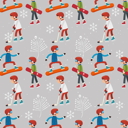 wallpapaer: Winter fashion wear and accesories graphic design, vector illustration