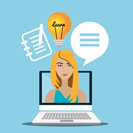 elearning: eLearning and education graphic design, vector illustration eps10