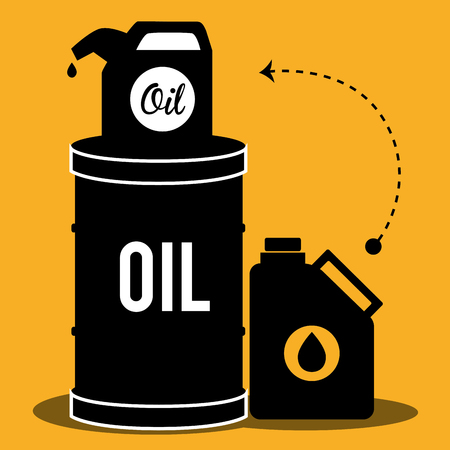 price development: Petroleum industry and oil prices graphic design, vector illustration