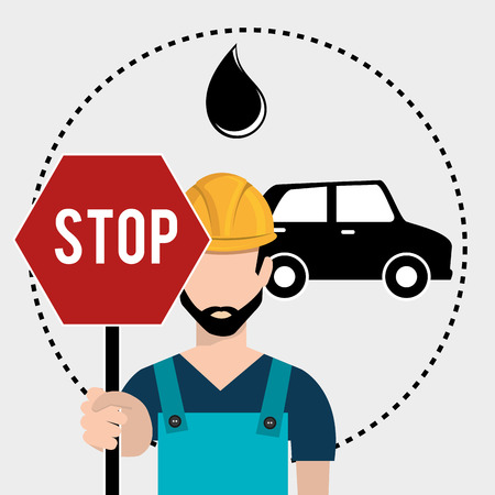 Petroleum industry and oil prices graphic design, vector illustration