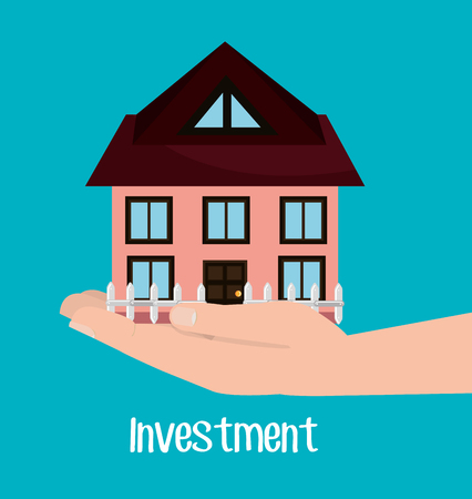 grow money: Real estate investments graphic design, vector illustration