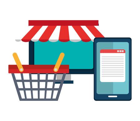 アイコン、ベクトル図でのショッピング、e コマースのグラフィック デザイン