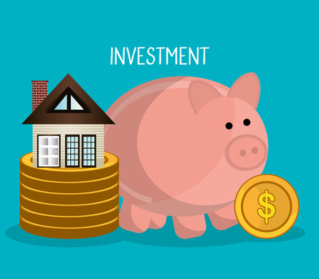 Real estate business investment graphic design, vector illustration