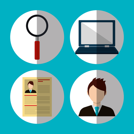 executive search: Searching business people theme design, vector illustration graphic Illustration