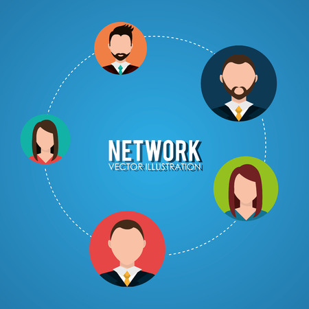sociology: Business people network graphic design, vector illustration Illustration