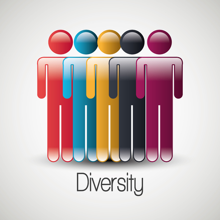 personal profile: People diversity colorful icon graphic design, vector illustration eps10