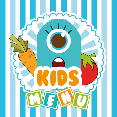 kids fun: kids menu design, vector illustration eps10 graphic Illustration