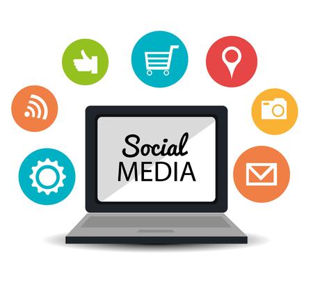entertaiment: Social media entertaiment graphic design, vector illustration