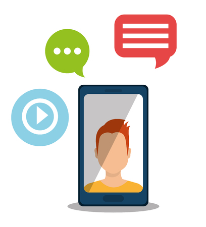 socializando: entretenimiento medios de comunicaci�n social el dise�o gr�fico, la ilustraci�n vectorial