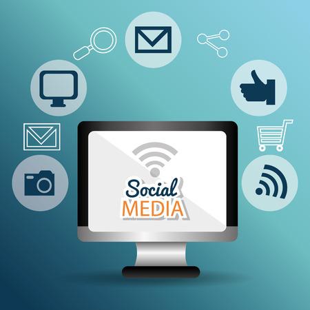 socializando: Social media entertaiment graphic design, vector illustration