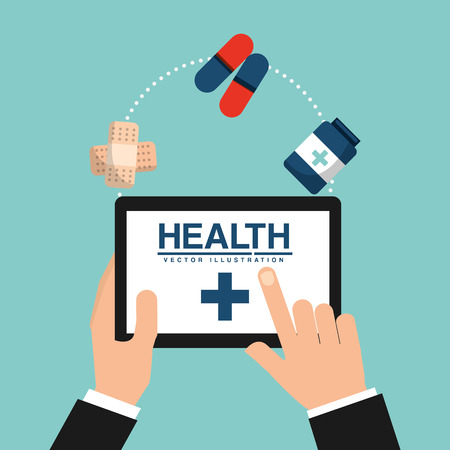 infographics touchscreen: medical healthcare design