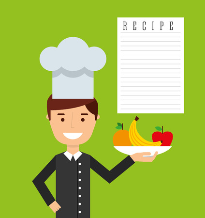 cooking chef: cooking concept design Illustration