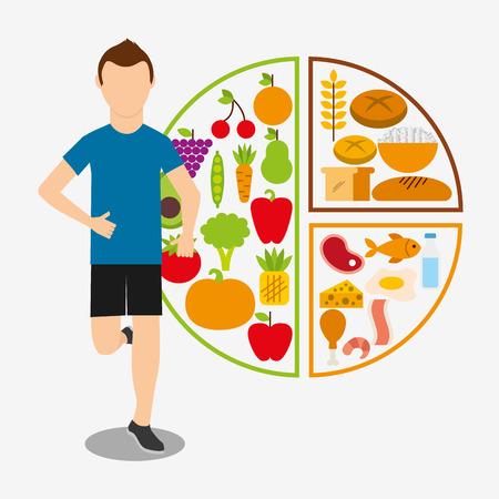 nutrition health: nutrition and health design Illustration
