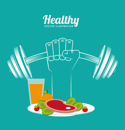 salud y deporte: la nutrición y la salud de diseño Vectores