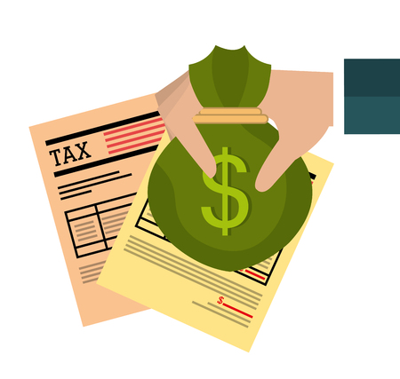 government: Government taxes payment graphic design Illustration