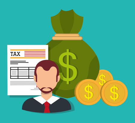 duties: Government taxes payment graphic design Illustration