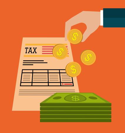 impuestos: Impuestos gubernamentales pago diseño gráfico