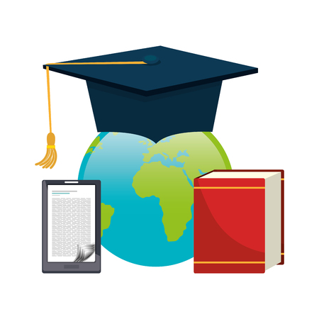 world class: Online learning and education graphic design, vector illustration Illustration