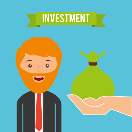 investment concept: investment concept design, vector illustration  graphic