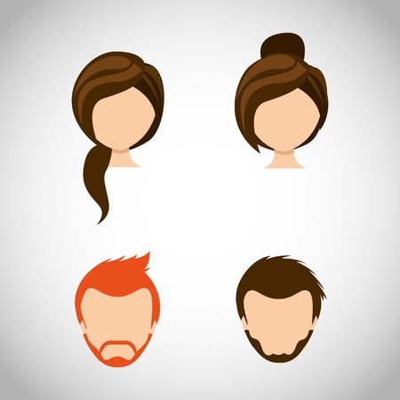 hairdressing: hairdressing service design, vector illustration  graphic Illustration