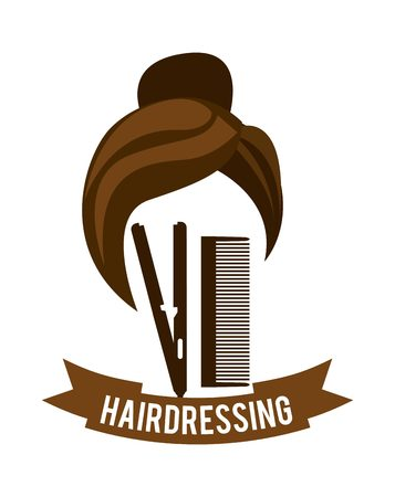 hairstylist: hairdressing equipment design, vector illustration  graphic