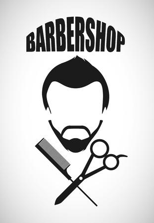beauty shop: barber shop design, vector illustration  graphic