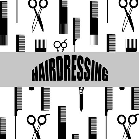 hairstylist: hairdressing equipment design, vector illustration  graphic