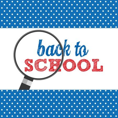 come back: back to school design, vector illustration  graphic Illustration