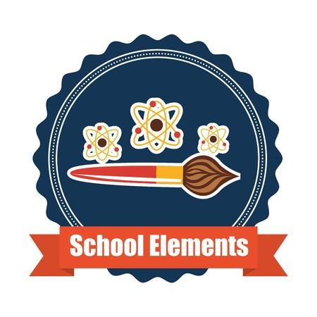 back view student: school elements design, vector illustration  graphic