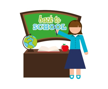 come back: back to school design, vector illustration  graphic Illustration