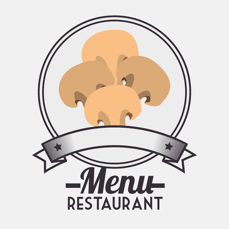ingredient: Menu restaurant ingredient graphic design, vector illustration