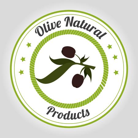 gastronomy: Natural olive oil graphic design, vector illustration Illustration