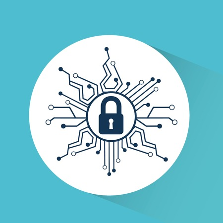 cyber security ontwerp, vector illustratie grafische Stock Illustratie