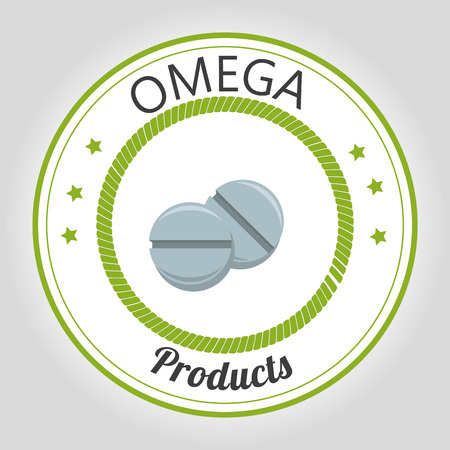omega: Healthy omega capsules graphic design, vector illustration