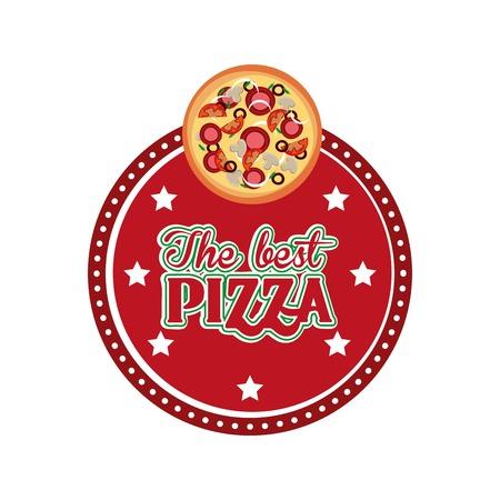 snack time: delicious pizza design, vector illustration  graphic Illustration