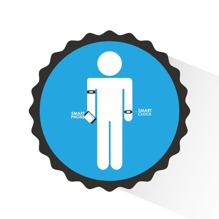 wearable: wearable technology design, vector illustration  graphic