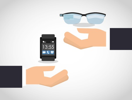wearable technology design, vector illustration  graphic