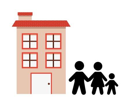 happy family: happy family design, vector illustration  graphic Illustration