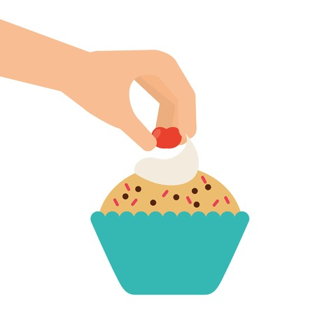 delicious: delicious cupcake design, vector illustration  graphic