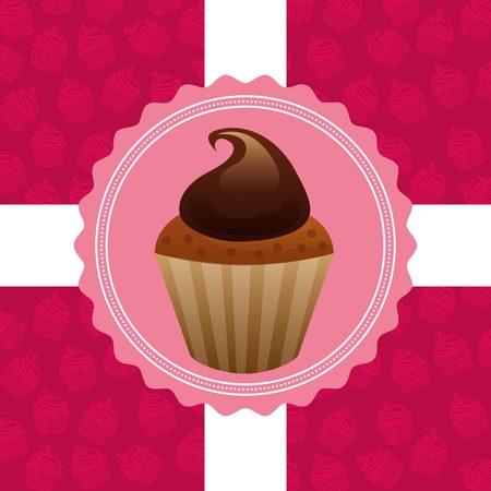 cupcake illustration: delicious cupcake design, vector illustration  graphic
