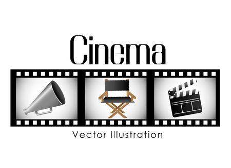 cinema film: cinema film design, vector illustration  graphic