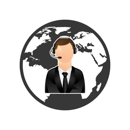mobile operators: customer service design, vector illustration  graphic